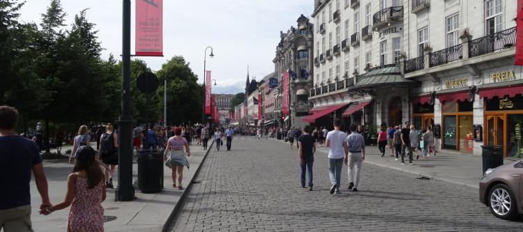 Oslo: Zentrum mit Karl Johans Gate