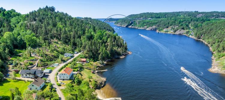 Svinesundbrücke zwischen Norwegen & Schweden